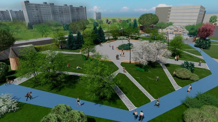 Космический красивый проект: смотрите, какой парк будет у жителей нового ЖК «Галактика»