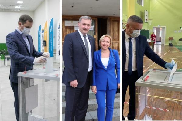 Врио губернатора и главы Архангельска и Северодвинска проголосовали досрочно