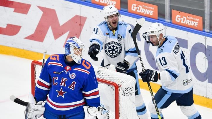 ХК «Сибирь» в гостях обыграл питерский «СКА»