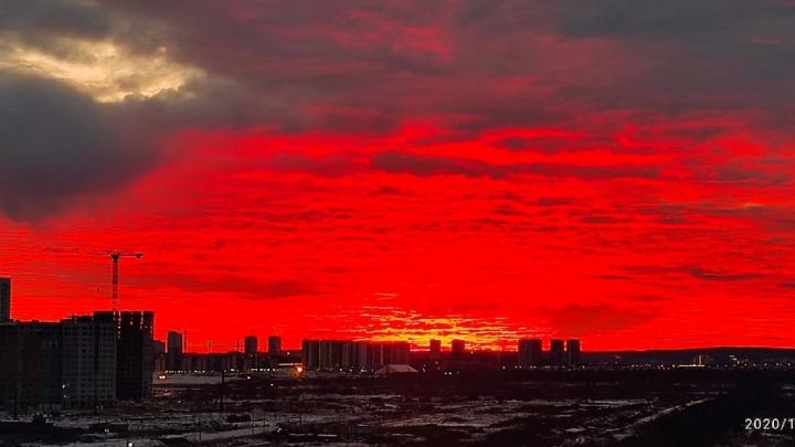 Екатеринбург встретил выходные шикарным рассветом: публикуем яркие фотографии от читателей E1.RU