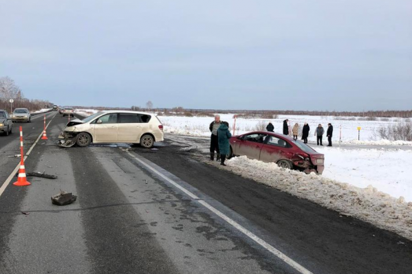 Авария произошла на трассе Тюмень — Омск