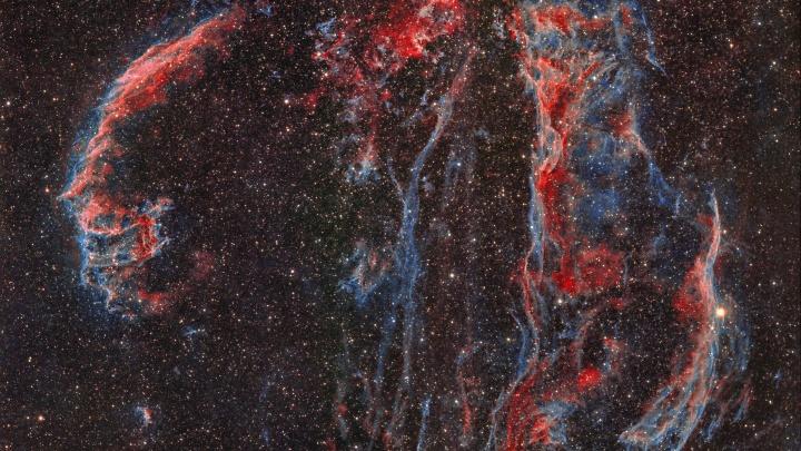 Зловещая улыбка стала ярче: новосибирец показал новый снимок туманности, оставшейся после взрыва сверхновой