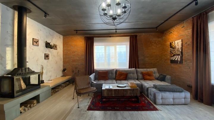 Под Омском за 15 миллионов продают коттедж в стиле лофт