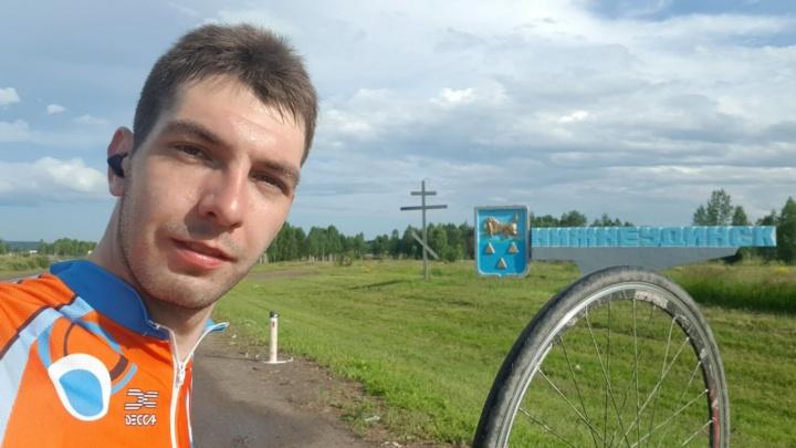 У новосибирского велосипедиста украли велосипед во время недельного путешествия в Читу
