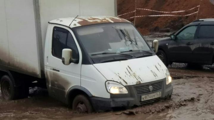 В Самаре автомобилисты запустили флешмоб по спасению Заводского шоссе