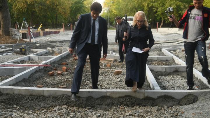 Гуляем по Зеленой Роще: вместе с мэром Екатеринбурга смотрим, как идет реконструкция