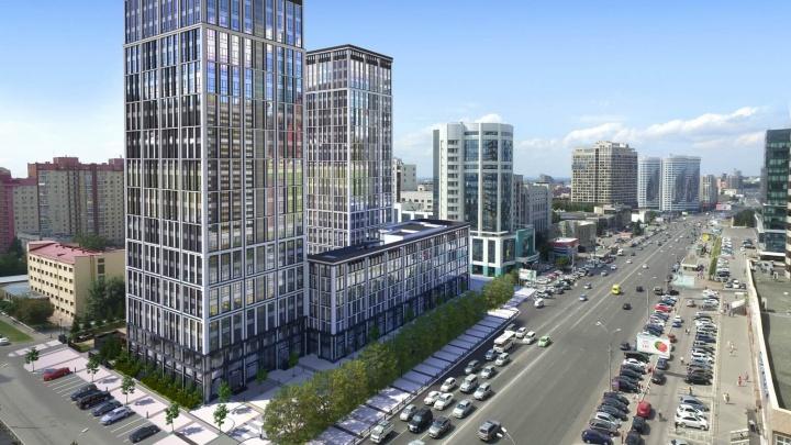 В центре города строят дом — победитель федеральной премии, он похож на высотки Лондона и Нью-Йорка