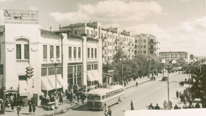 По самарскому Арбату ходил троллейбус: смотрим фото Куйбышева 1955–1962 годов