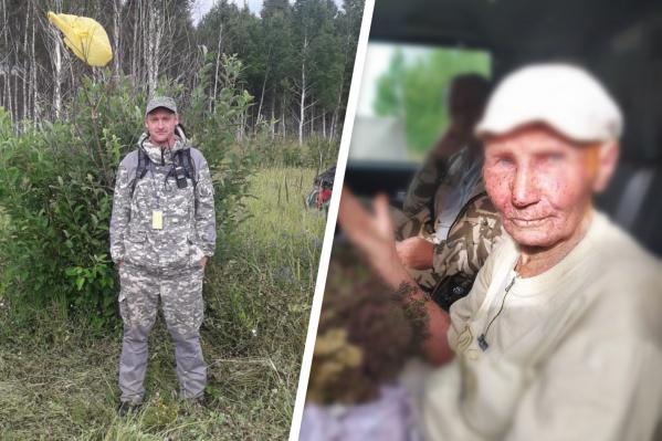 Раиса Вязаницына по просьбе спасателей привязала пакет к дереву — по нему и нашли пенсионерку