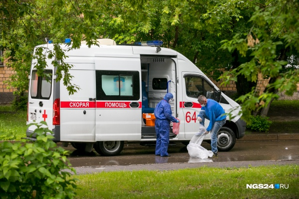 Скорая помощь на территории 20-й больницы