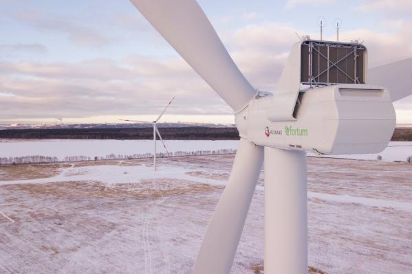 Так выглядит ветровая электростанция в Ульяновской области