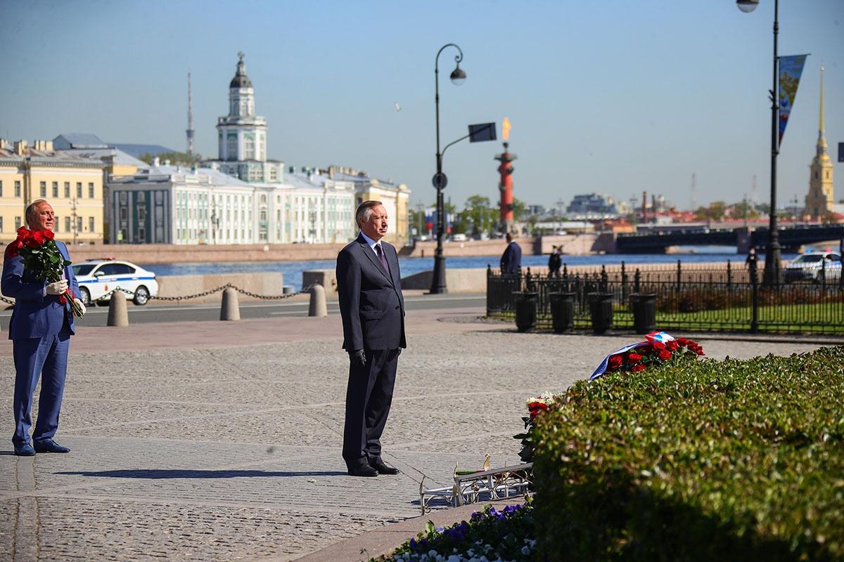Губернатор Петербурга Александр Беглов и главный прокурор города Сергей Литвиненко