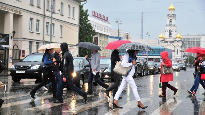 Жителей Екатеринбурга предупредили о сильных ливнях