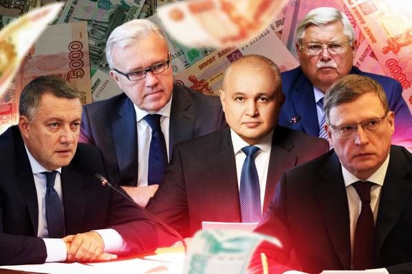 Губернатор Кузбасса оказался далеко не самым бедным