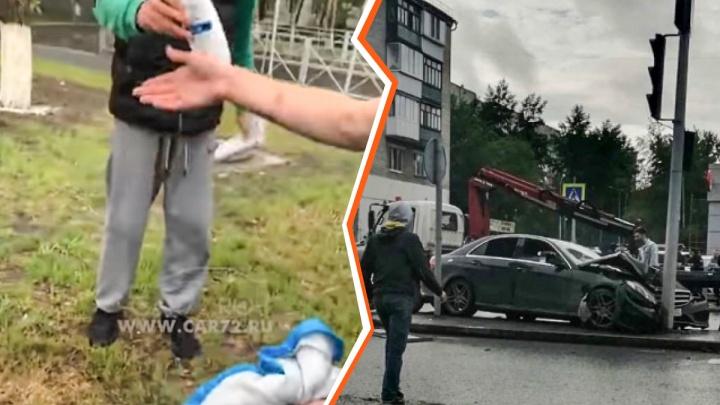 Лихачи, разбившие Mercedes на Мельникайте, незадолго до аварии украли шампунь в «Пятерочке»