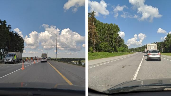 Пробка на 3 километра: новосибирские водители застряли на Северном объезде