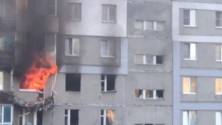 Видео дня. Первые минуты после взрыва в квартире на Автозаводе