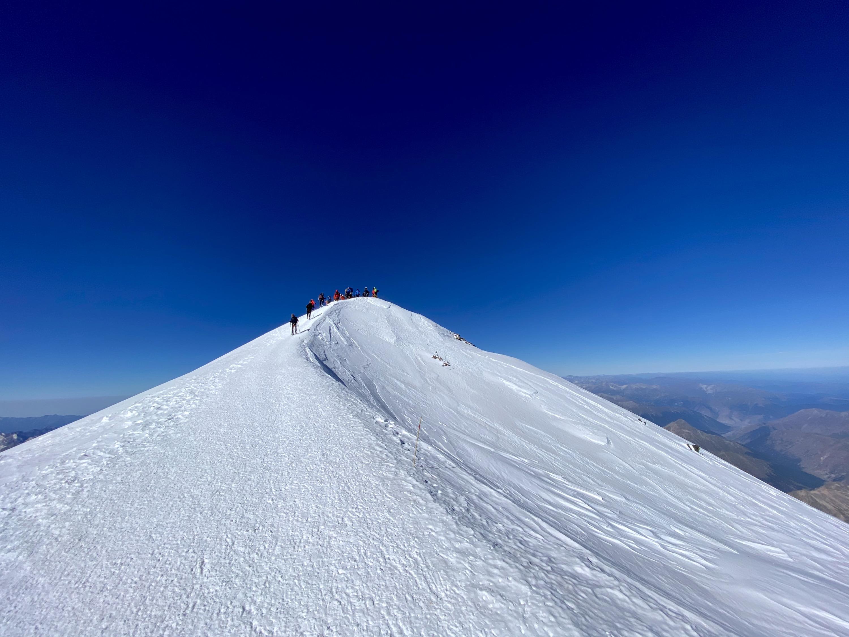 Восхождение на вершину заняло около семи дней