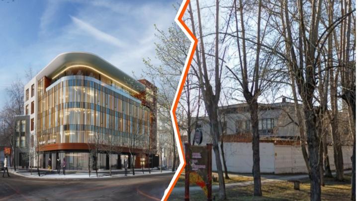 В Екатеринбурге на месте заводской столовой построят офисный центр с золотистыми окнами: смотрим проект