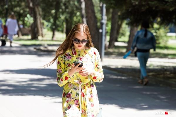 Ростовчанки все еще могут себе позволить надевать легкие платья — погода на их стороне