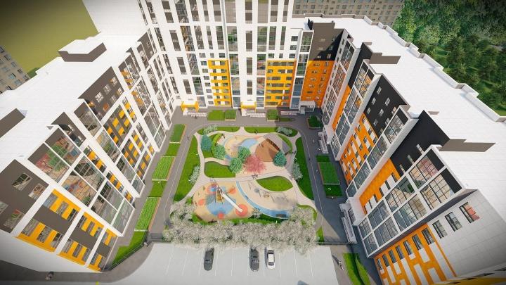 Нашли, где в Новосибирске сделали популярный камерный двор, — как он выглядит с высоты птичьего полета