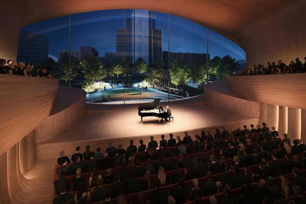 Так будет выглядеть камерный зал в новом здании филармонии