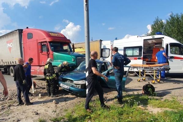 Авария произошла на выезде из города