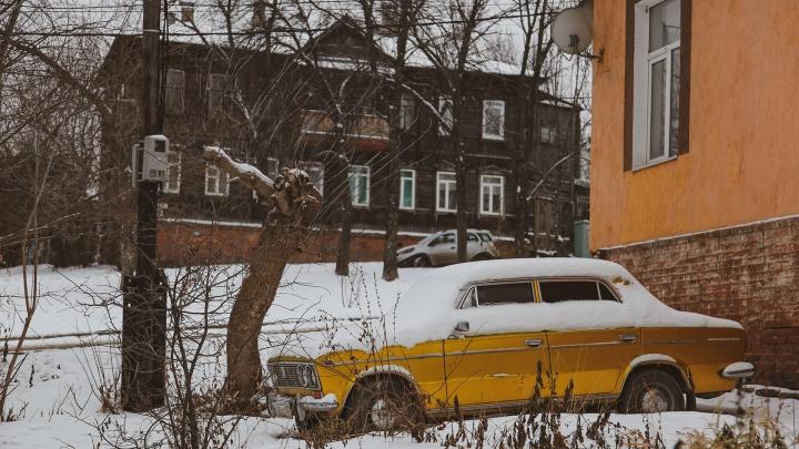 Живые елки, снежинки на окнах и тишина: как мы искали новогоднее настроение в старой деревянной Уфе