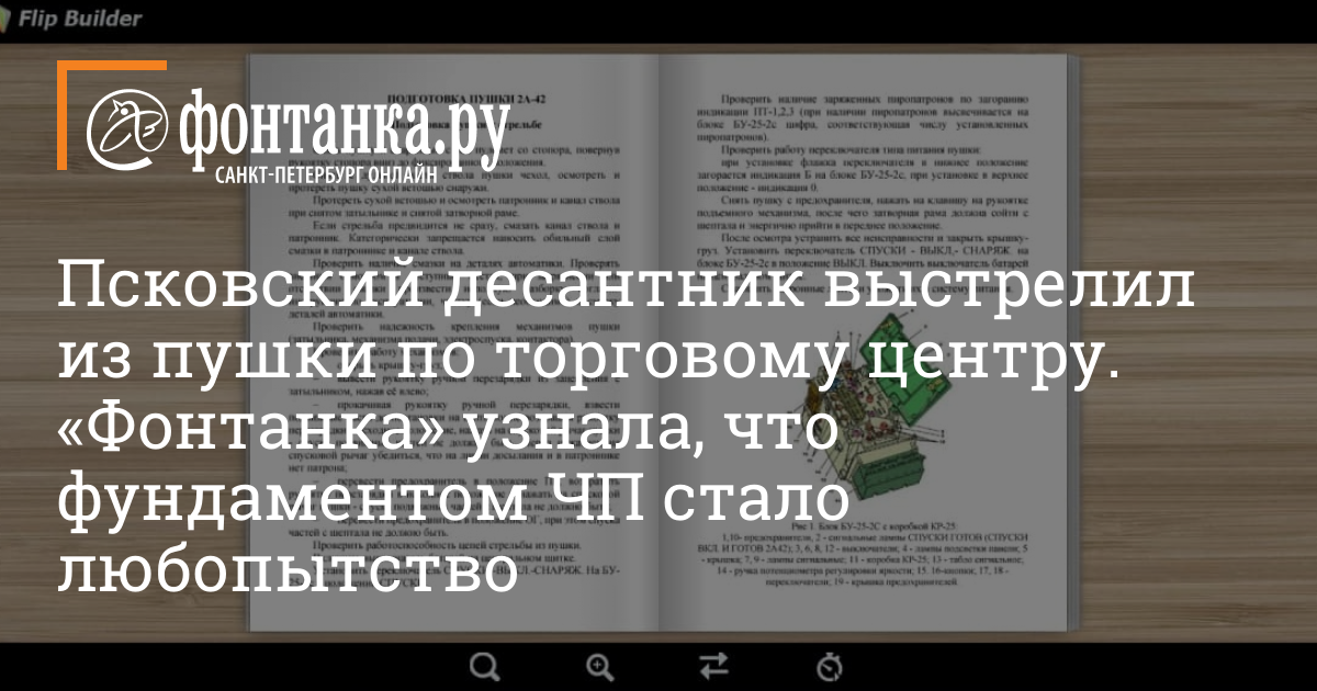 Псковский десантник выстрелил из пушки по торговому центру.  «Фонтанка» узнала, что фундаментом ЧП стало любопытство — Город — Новости Санкт-Петербурга