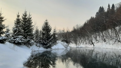 Деревня, где зимует сказка: разглядываем фото заснеженного озера Сарва