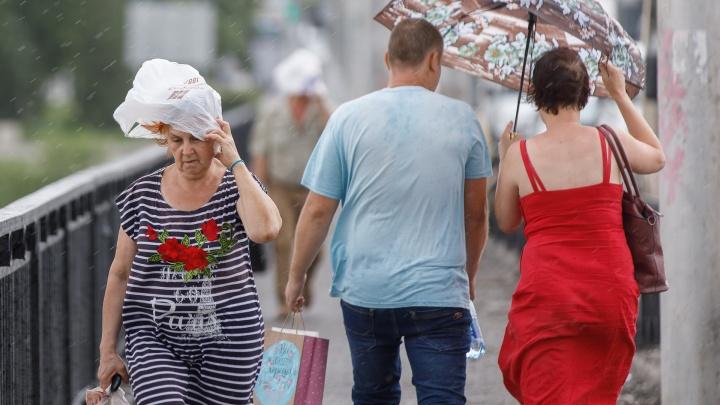 Гроза и ураганный ветер: волгоградцам пообещали жаркое, но дождливое воскресенье