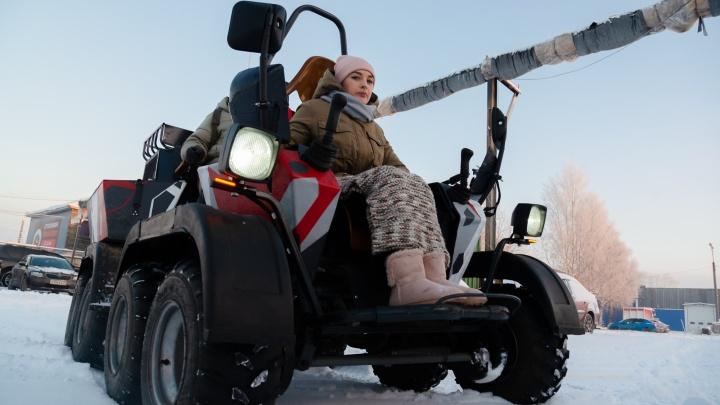 Без руля и педалей: в Архангельске сделали вездеход-трансформер для людей с инвалидностью