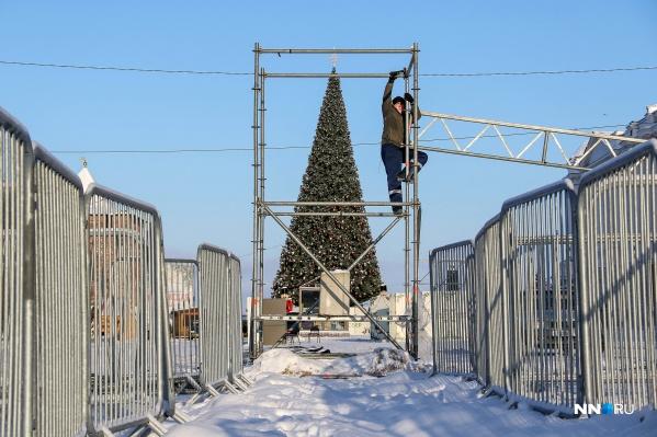 По утверждению властей, движение на площади Минина восстановится с 11 января