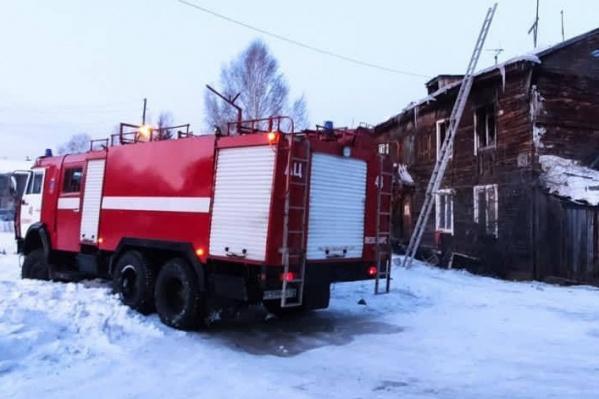 В пожаре рано утром погибли дети