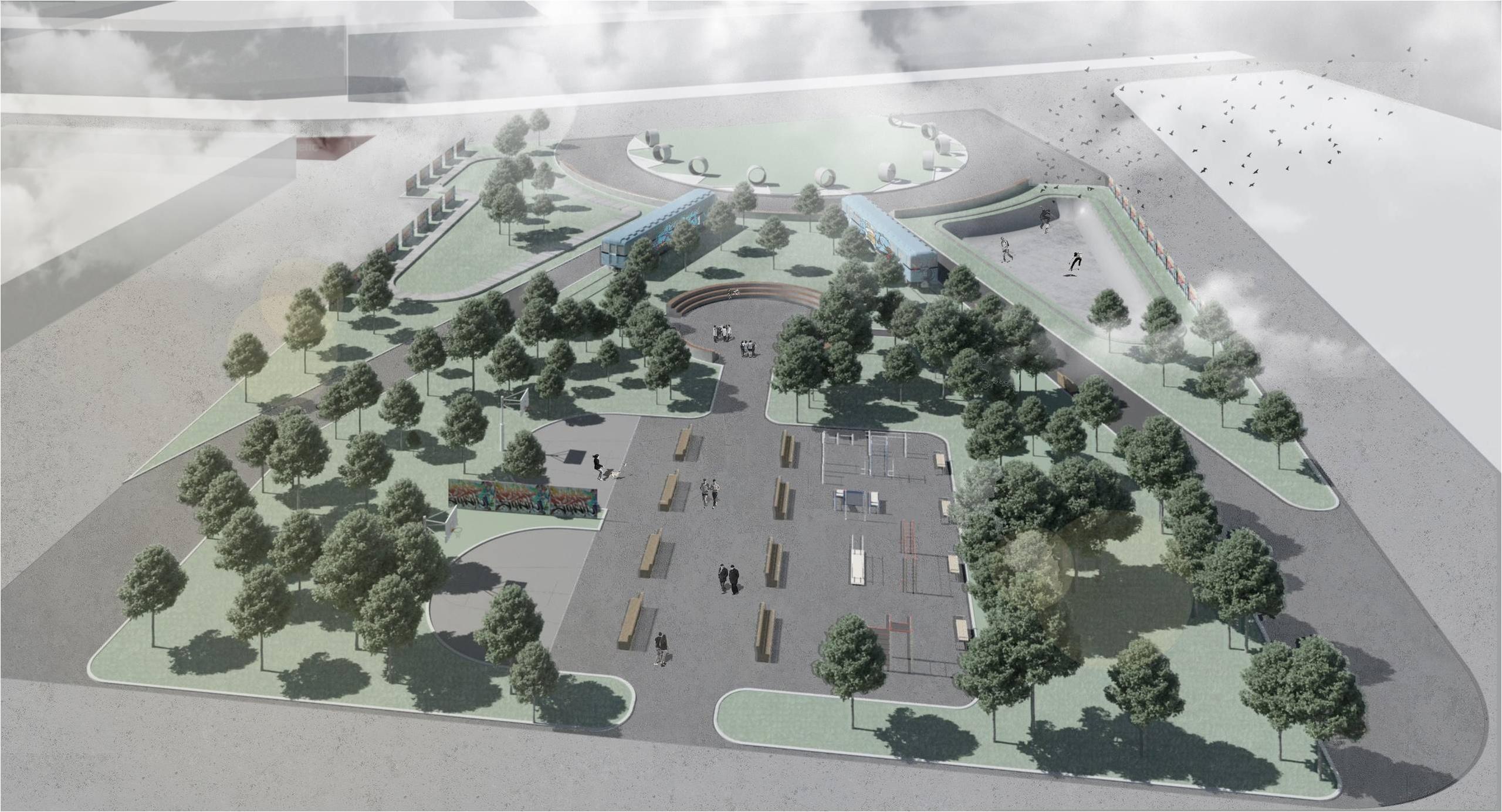 Проект общественного пространства«Молодежного Сквера»