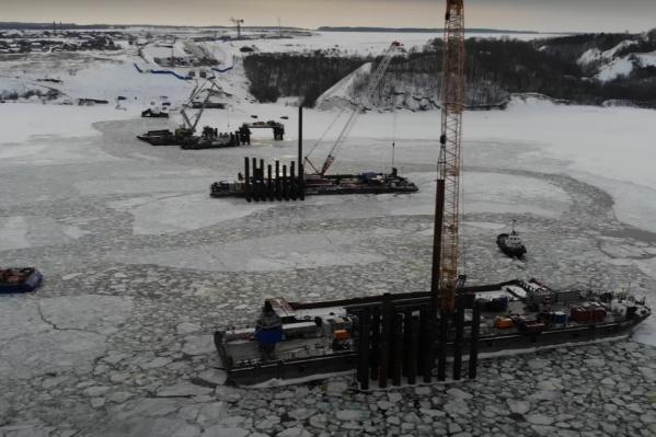 Активная работа продолжается даже во время сильных морозов