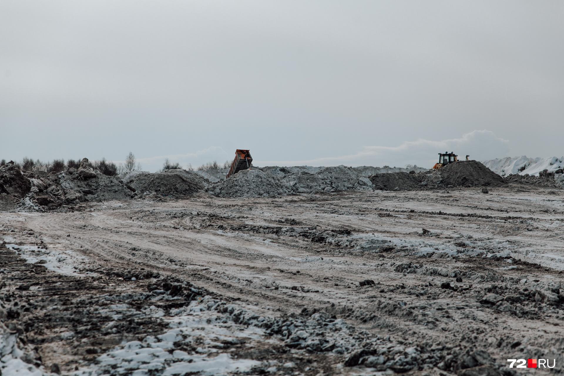 Местные жители утверждают, что снег возят на полигон 24/7