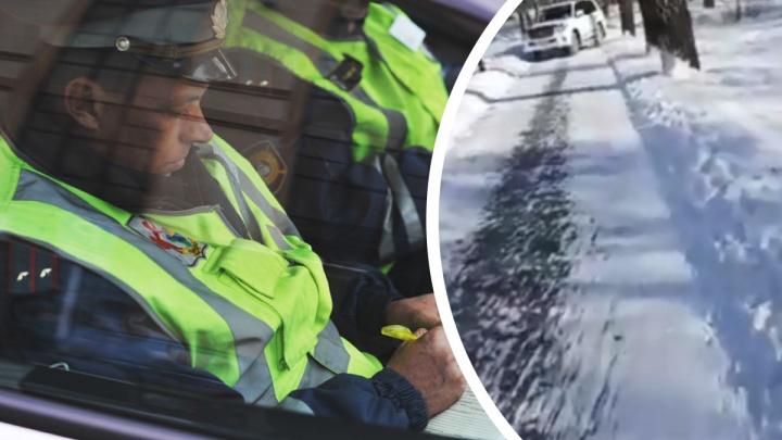 С ветерком по тротуару: полиция ищет тюменца, катавшегося по скверу на внедорожнике