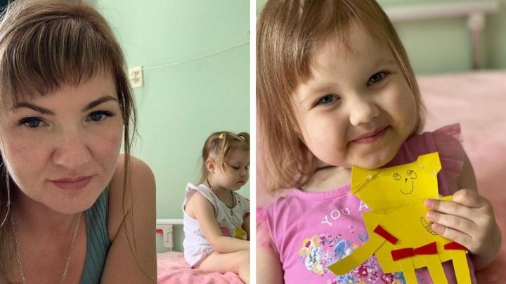 Мама 10 детей из Новосибирска сообщила, что состояние 3-летней Любаши ухудшилось. Малышка борется с раком