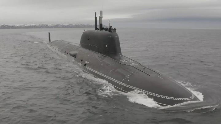 Подлодка «Казань», построенная на «Севмаше», прибыла на базу Северного флота — завораживающее видео