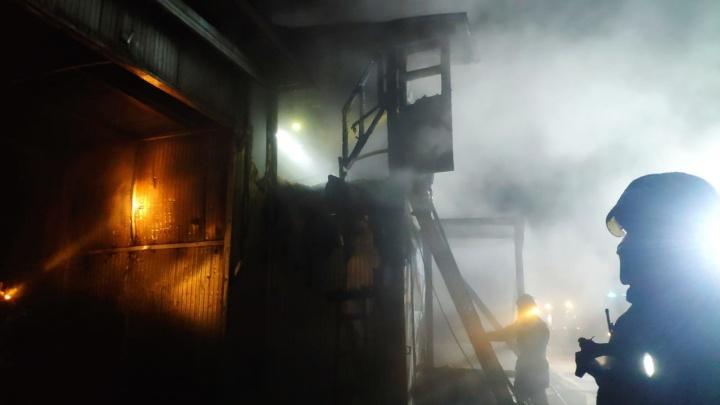 На Левом берегу заметили открытое пламя и клубы дыма: что горело