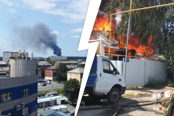 Огонь распространился на 150 квадратных метров
