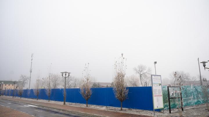 В Ростове на левом берегу Дона начали строить парк аттракционов