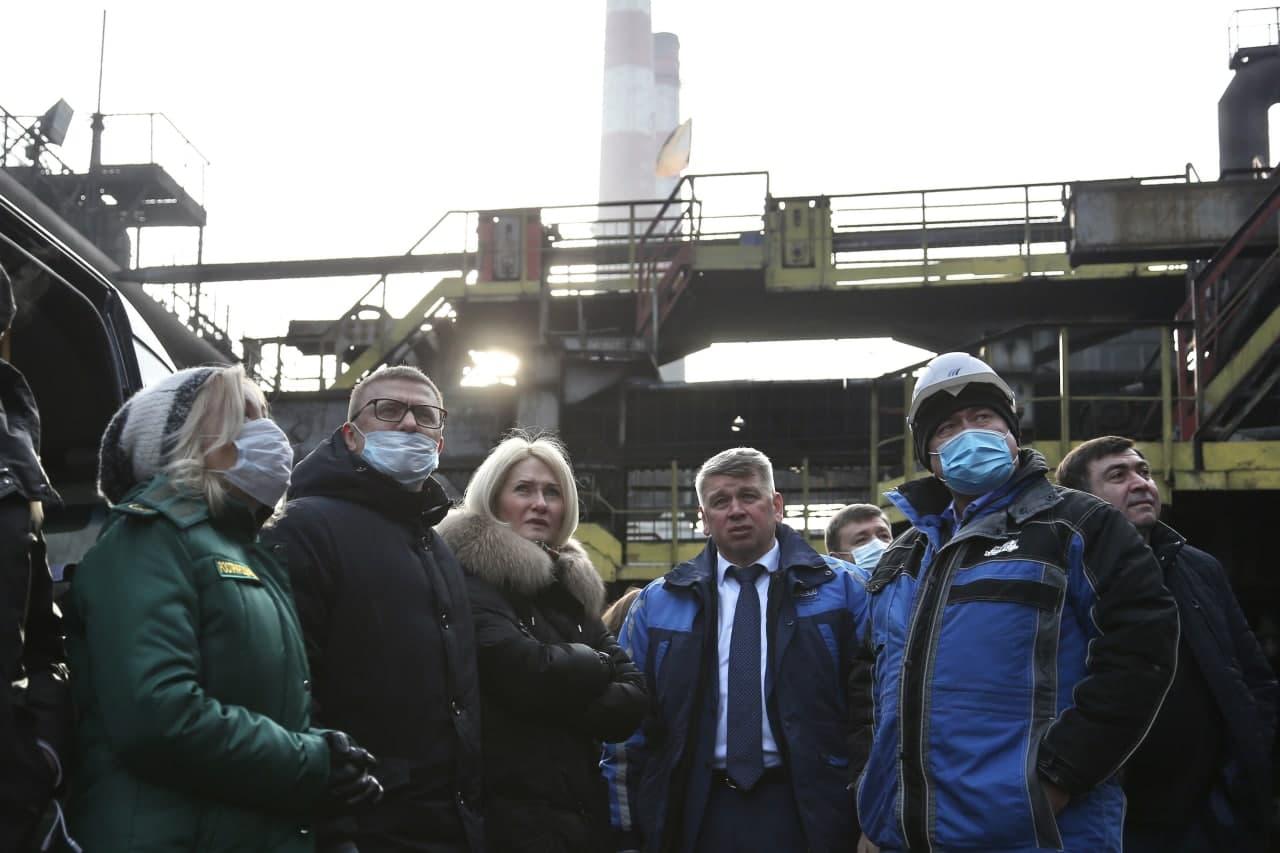 Виктория Абрамченко и Алексей Текслер оценили перевооружение «Мечел-Кокса», а такжеработы в кислородно-конвертерном цехе Челябинского металлургического комбината