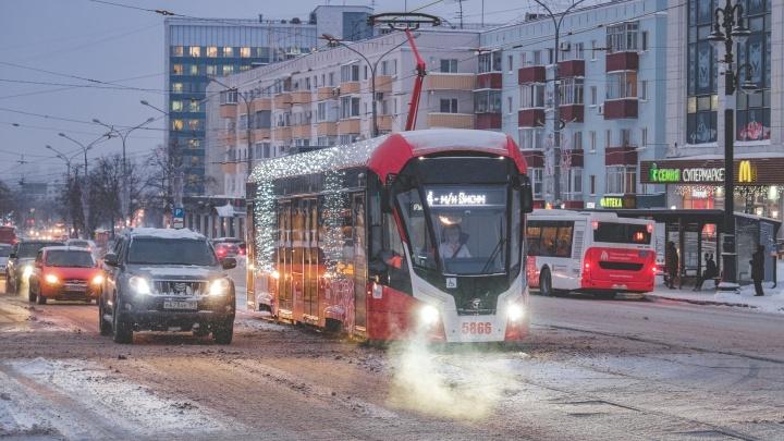 В Пермь привезли еще три трамвая «Львенок» из новой партии