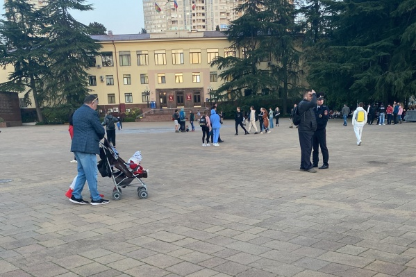 Площадь Флага, где должен был проходить митинг, была полупустой