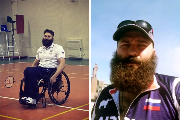 Слева Виктор Сибирин в спортзале два месяца назад, справа — сегодня перед самым стартом