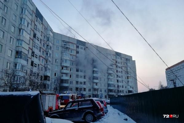 """Возгорание произошло вчера, <nobr class=""""_"""">22 февраля</nobr>"""