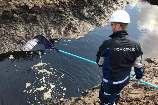 Продукты «БиоМикроГелей» использовали для очистки воды от топлива при ликвидации экологической катастрофы в Норильске