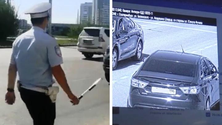 В Екатеринбурге автоинспекторы вычислили по камерам пьяного водителя: у него забрали документы и машину